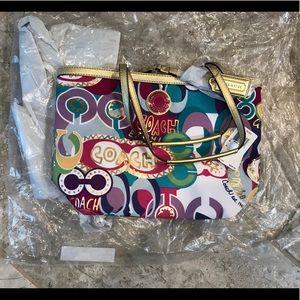 NWT Coach Signature Poppy Pop C Tote Handbag